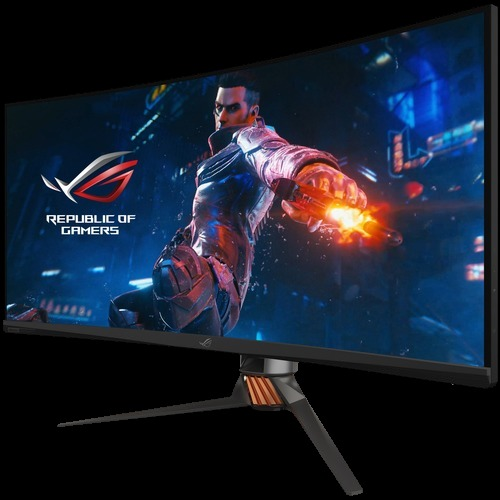 "Asus ROG Swift PG35VQ 35"" UW-QHD Curved Screen LED Gaming LCD Monitor - 21:9 - Plasma Copper, Armor Titanium, Black"