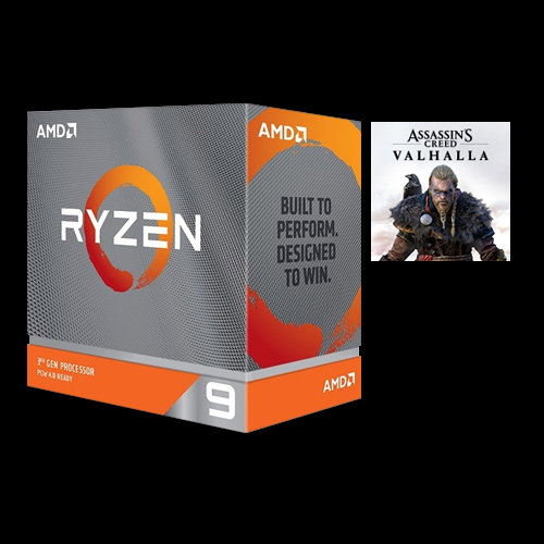 AMD Ryzen 9 3900X Unlocked Desktop Processor w/ Wraith Prism LED Cooler + Assassin's Creed Valhalla Ryzen Token Code
