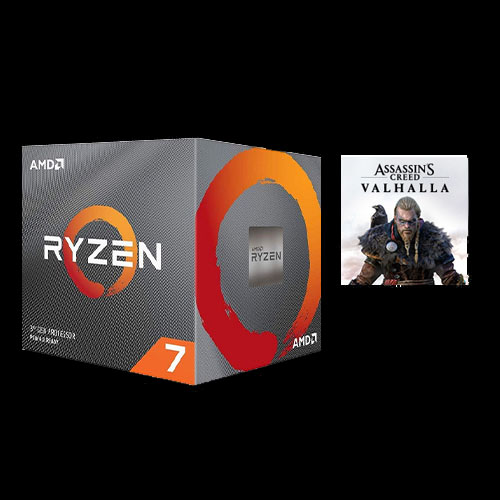 AMD Ryzen 7-3800X Unlocked Desktop Processor w/ AMD Wraith Prism Cooler + Assassin's Creed Valhalla Ryzen Token Code