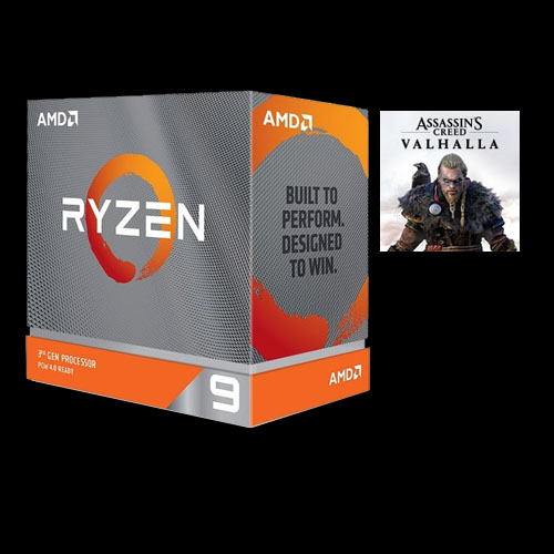 AMD Ryzen 9 3900XT Unlocked Desktop Processor without cooler + Assassin's Creed Valhalla Ryzen Token Code