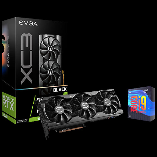 EVGA GeForce RTX 3070 XC3 Graphics Card + Intel Core i9-9900KF Desktop Processor