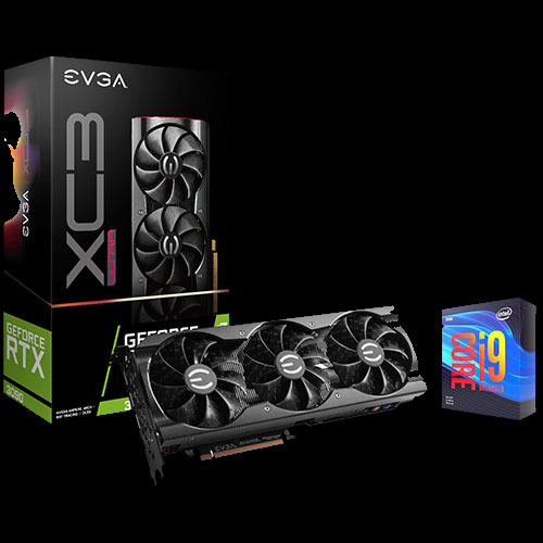 EVGA GeForce RTX 3090 Graphic Card + Intel Core i9-9900KF Desktop Processor