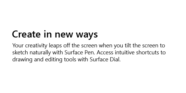 Microsoft Surface Store Revamp Surface Studio 2 Surface Studio 2 Desc2