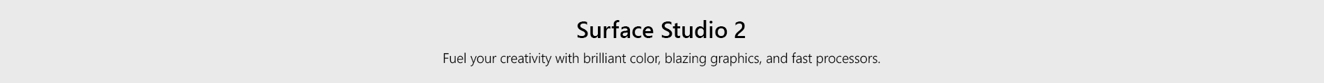 Surface Studio2 Landing Page Header Studio Tile
